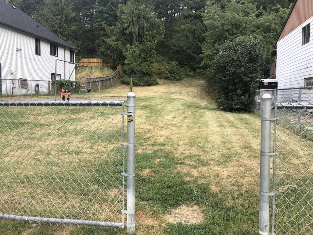 Highland Park Subdivision Green Lot and Trail