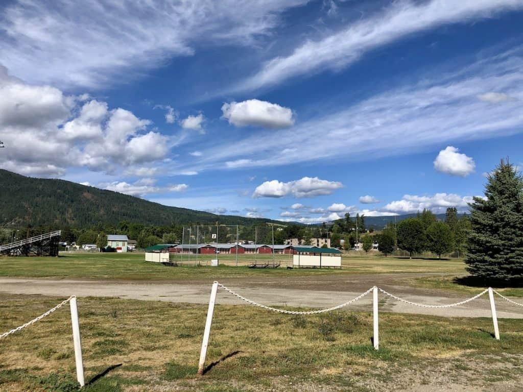 IPE Fair Grounds in Armstrong BC - walking loop