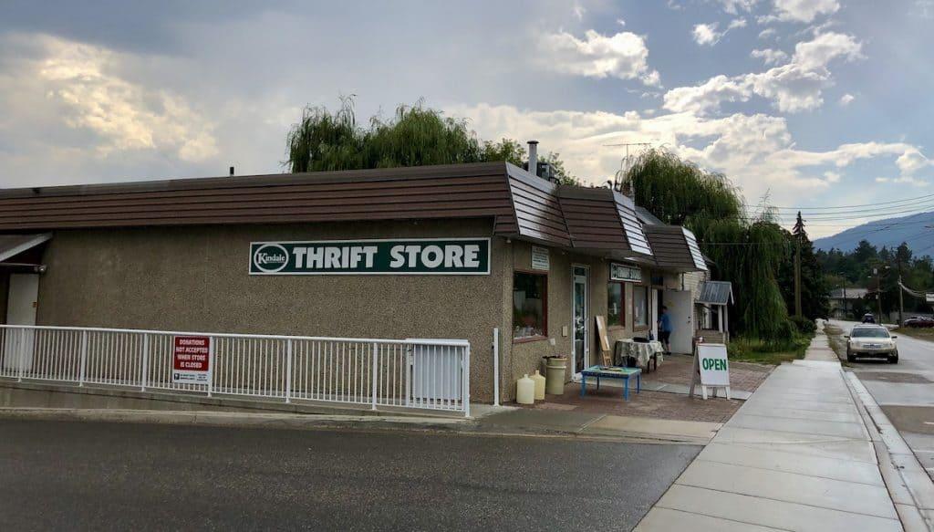 Kindale Thrift Shop Building in Armstrong BC