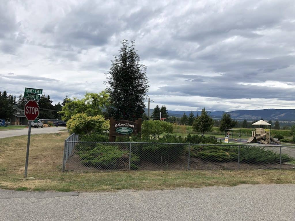 McLeod Park - Armstrong BC - Spall