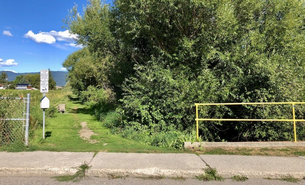 Meighan Creek Wetlands Walking Trail in Downtown Armstrong, BC