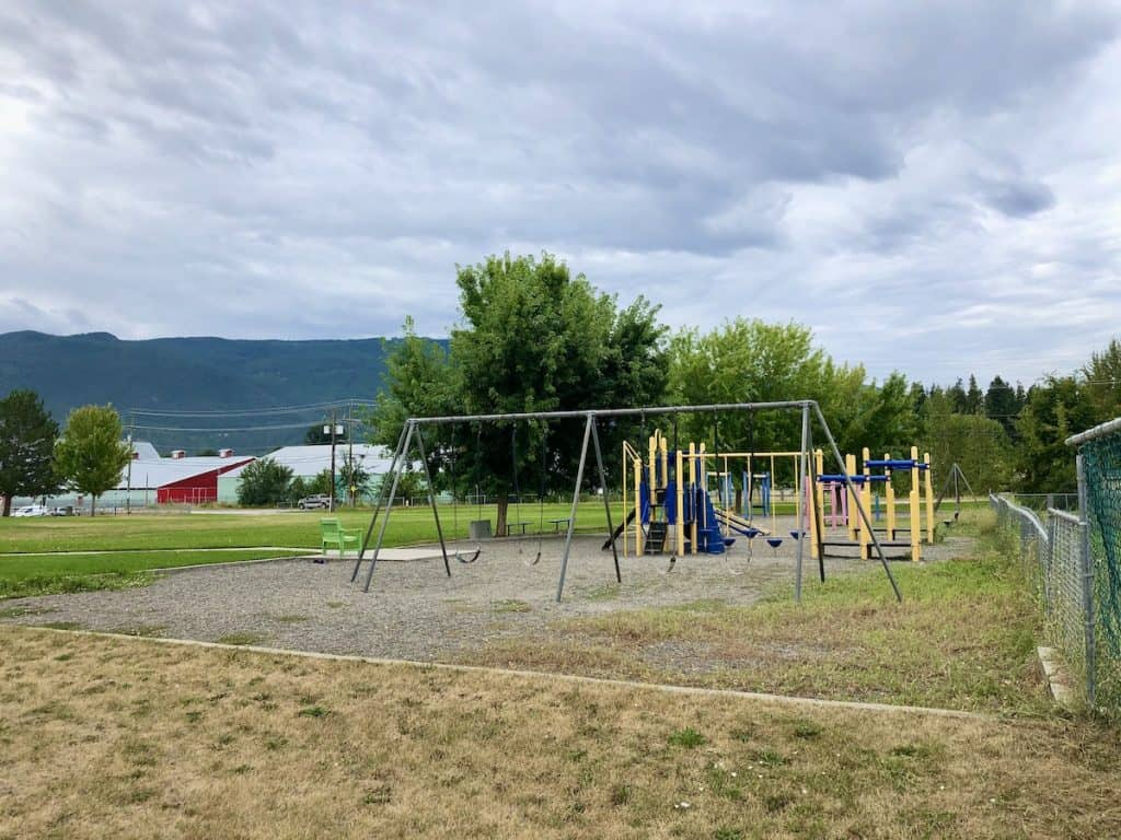 Playground Equipment at Highland Park Elementary (HPE) in Armstrong, BC