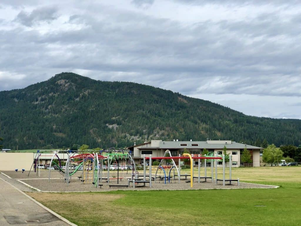 Playground Equipment at Len Wood School in Armstrong, BC