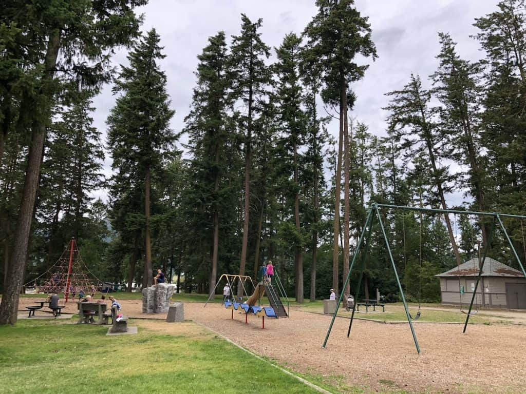 Playground Equipment at Memorial Park in Armstrong, BC