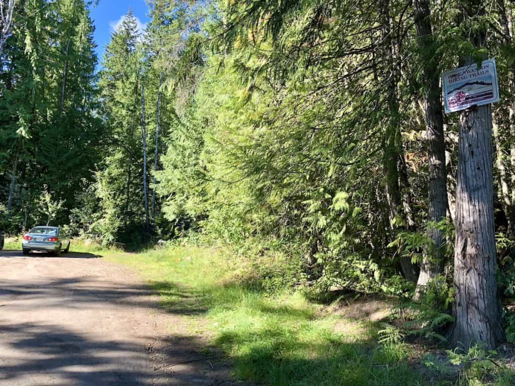 Rose Swanson Hiking Trails in Armstrong BC - Trailhead