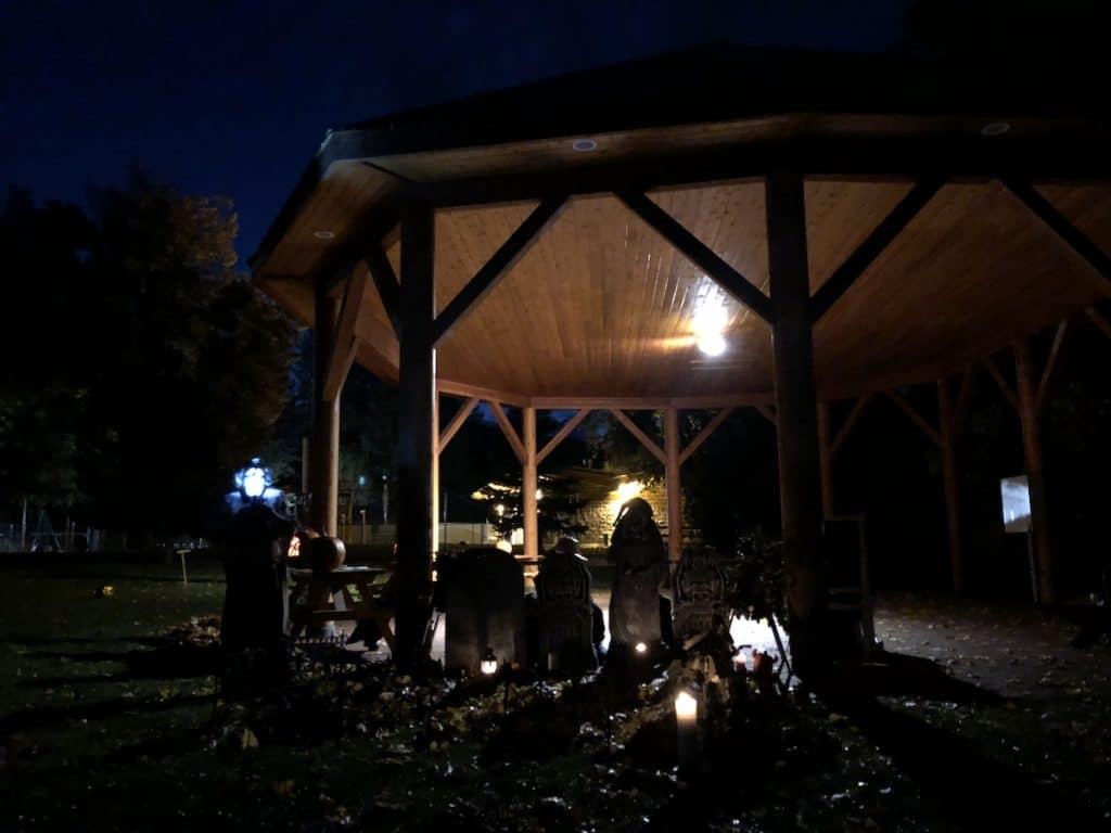 Armstrong Halloween Ghost Walk - Gazebo in Memorial Park